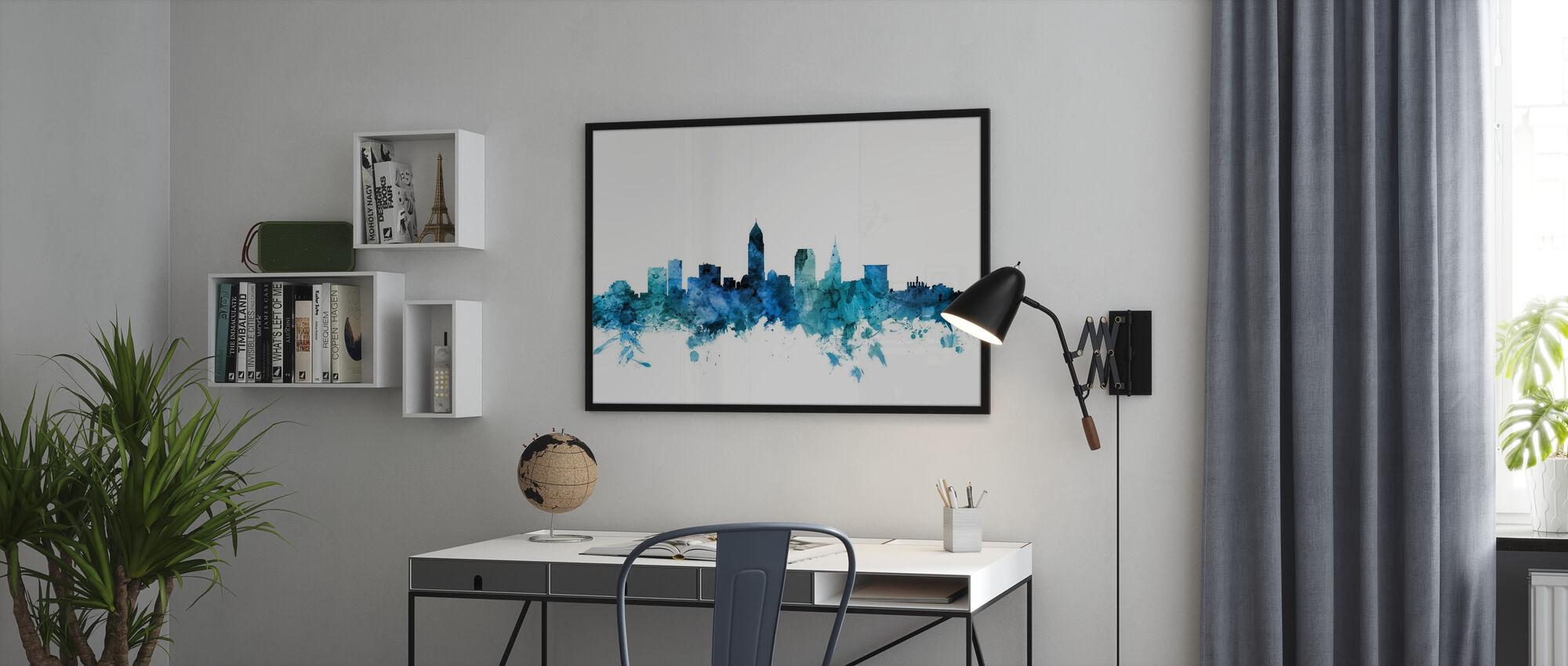 Cleveland Ohio Skyline - Plakat - Kontor