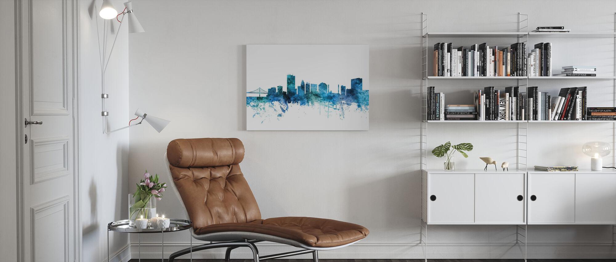 Toledo Ohio Skyline - Canvas print - Living Room