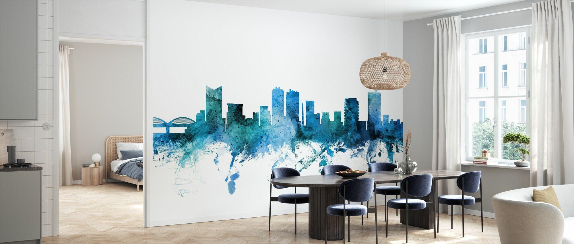 Fort Worth Texas Skyline - Wallpaper - Kitchen