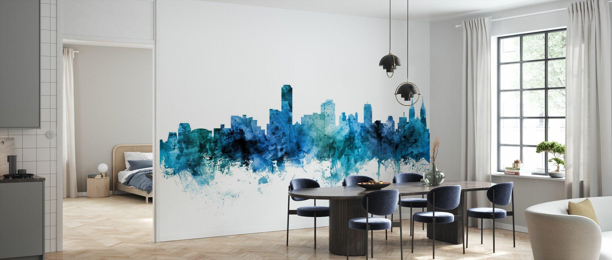 Skyline van Adelaide Australië - Behang - Keuken