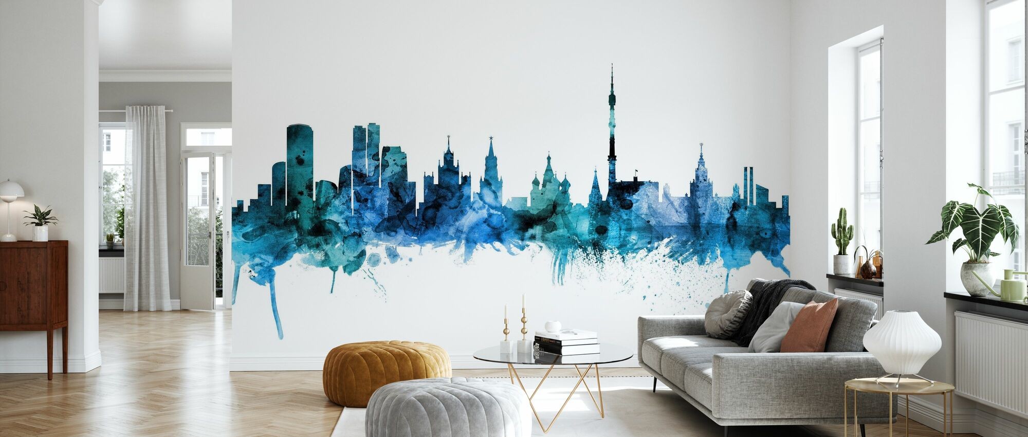 Moscow Russia Skyline - Wallpaper - Living Room