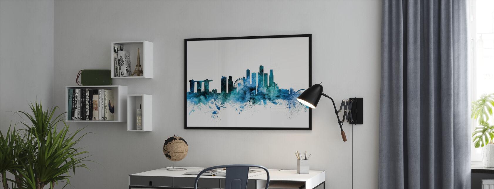 Singapore Skyline - Poster - Office