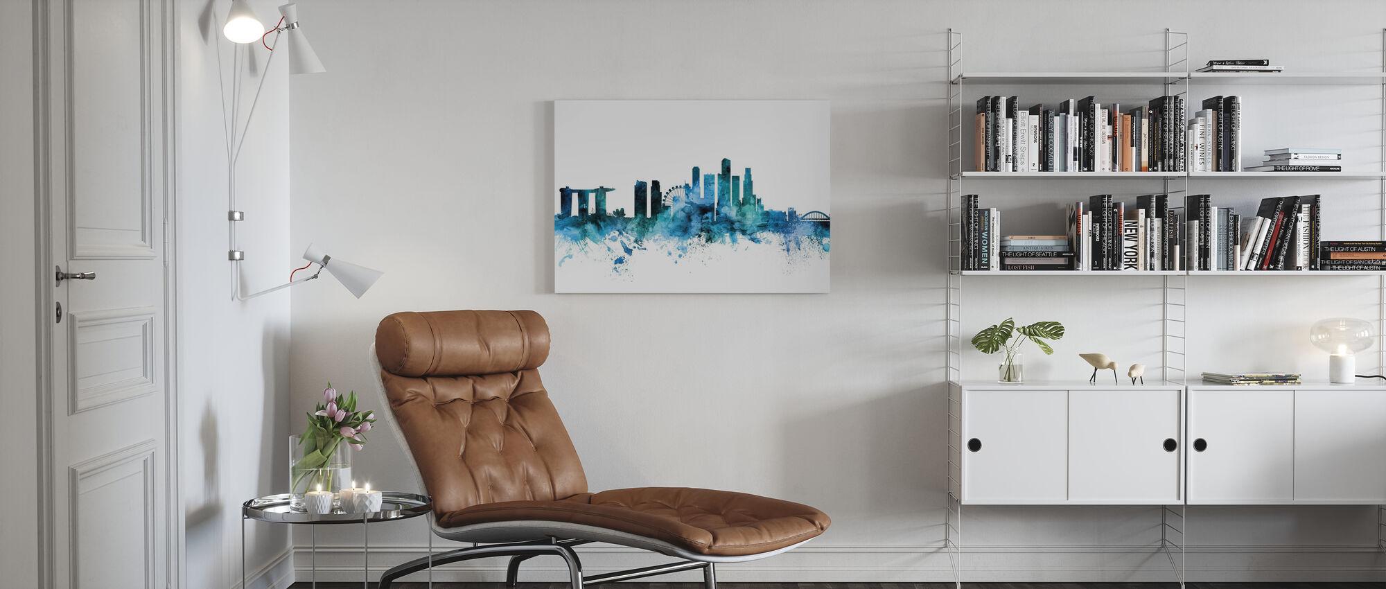 Singapore Skyline - Canvas print - Living Room