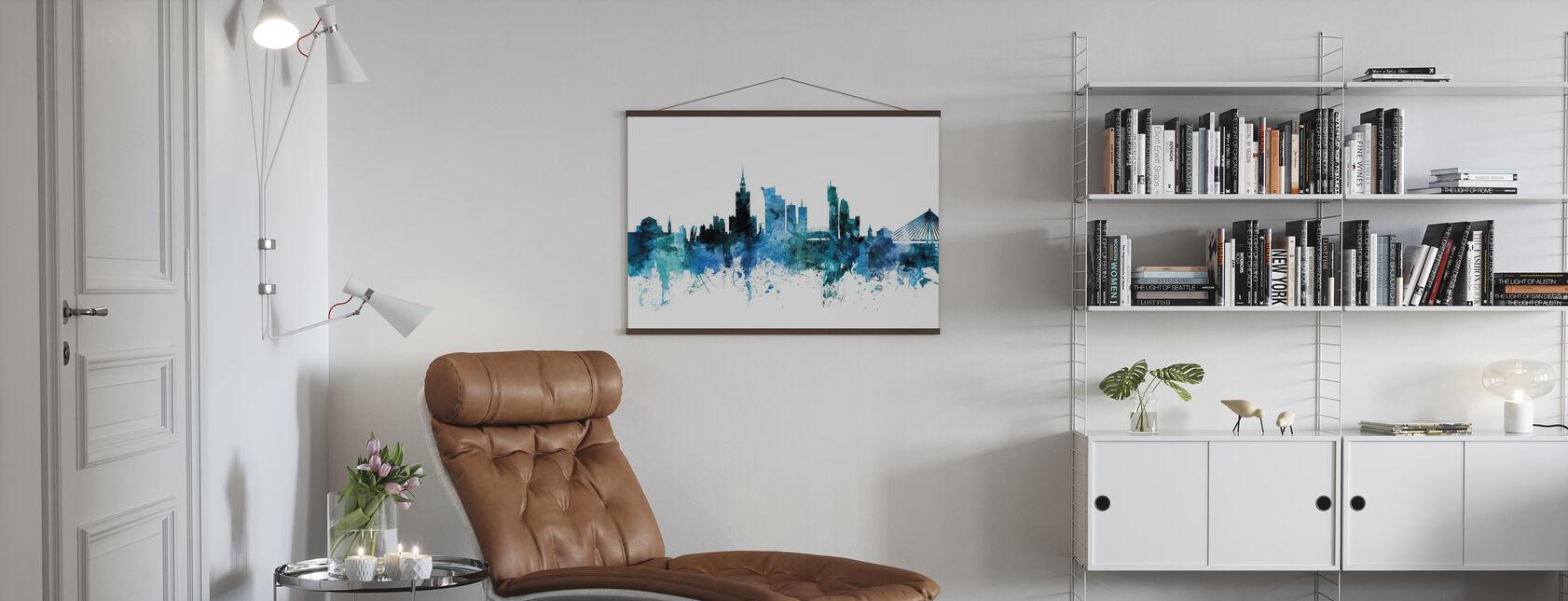 Warszawa Polska Skyline - Plakat - Pokój dzienny