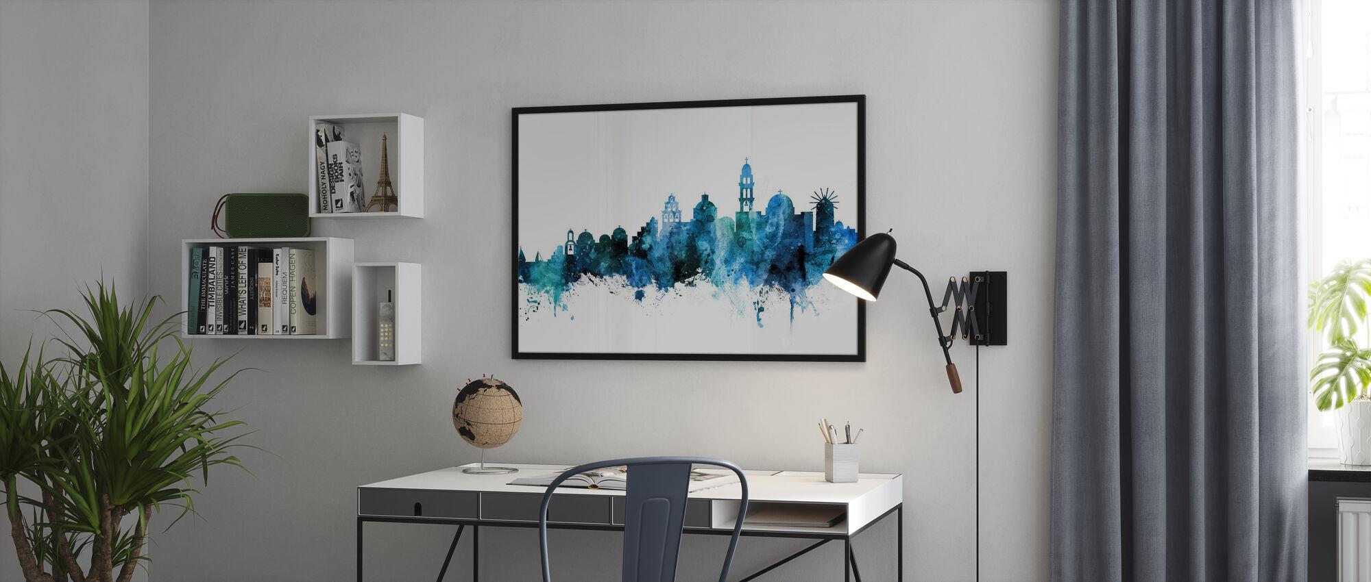 Santorini Skyline - Poster - Office