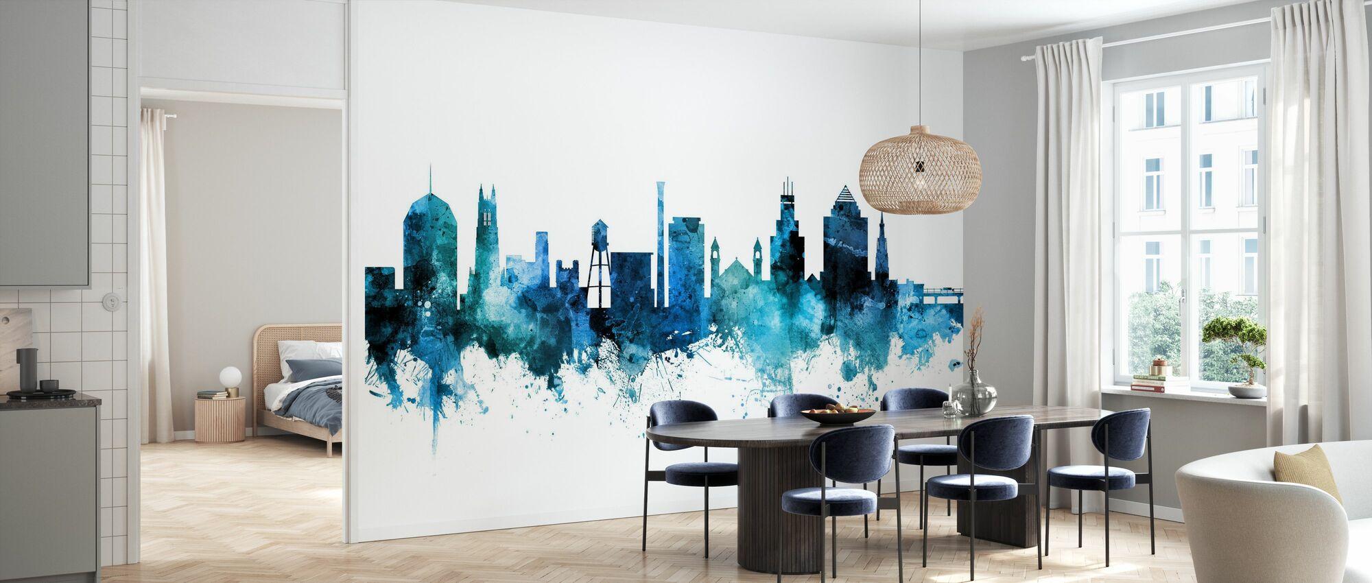 Durham North Carolina Skyline - Wallpaper - Kitchen