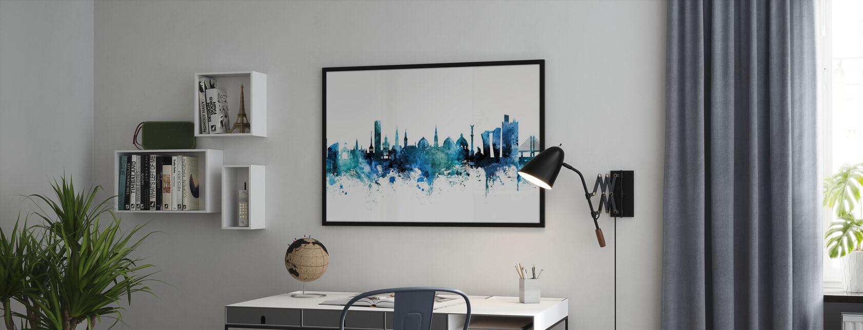 Copenhagen Denmark Skyline - Poster - Office