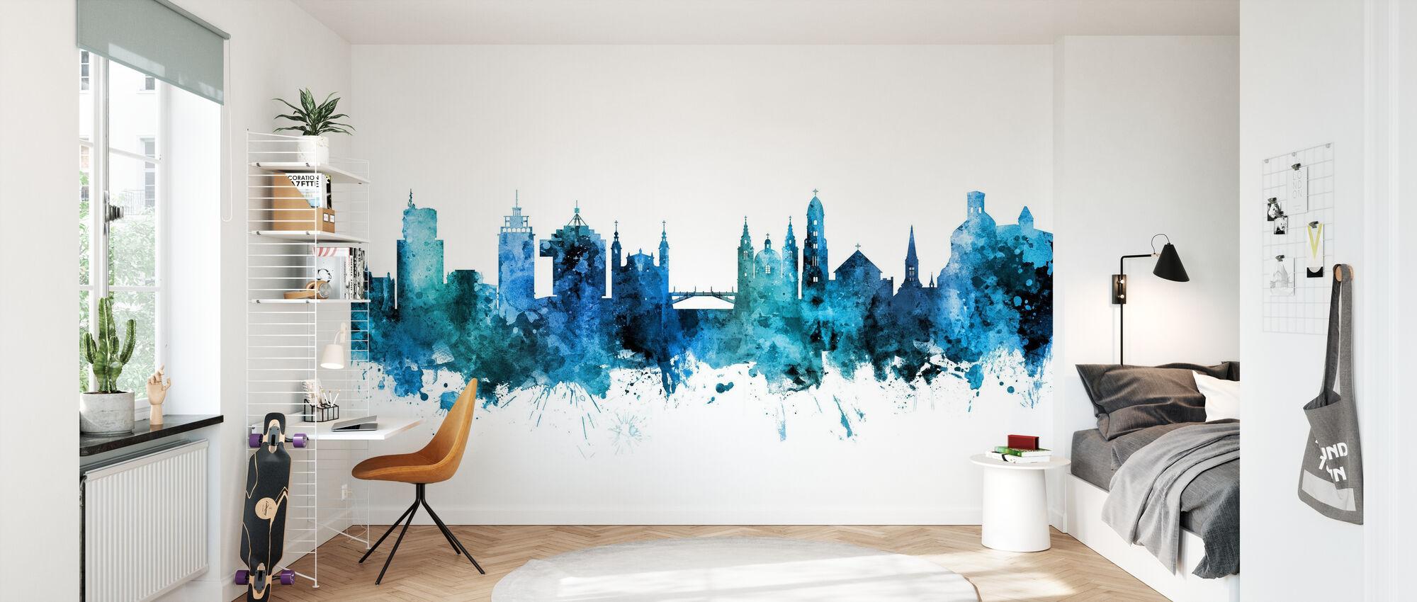 Ljubljana Solvenia Skyline - Wallpaper - Kids Room
