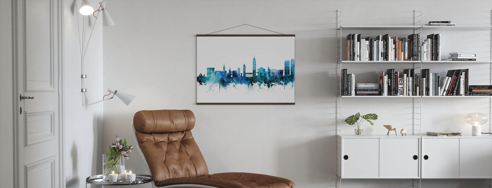 Skyline van Split Kroatië - Poster - Woonkamer