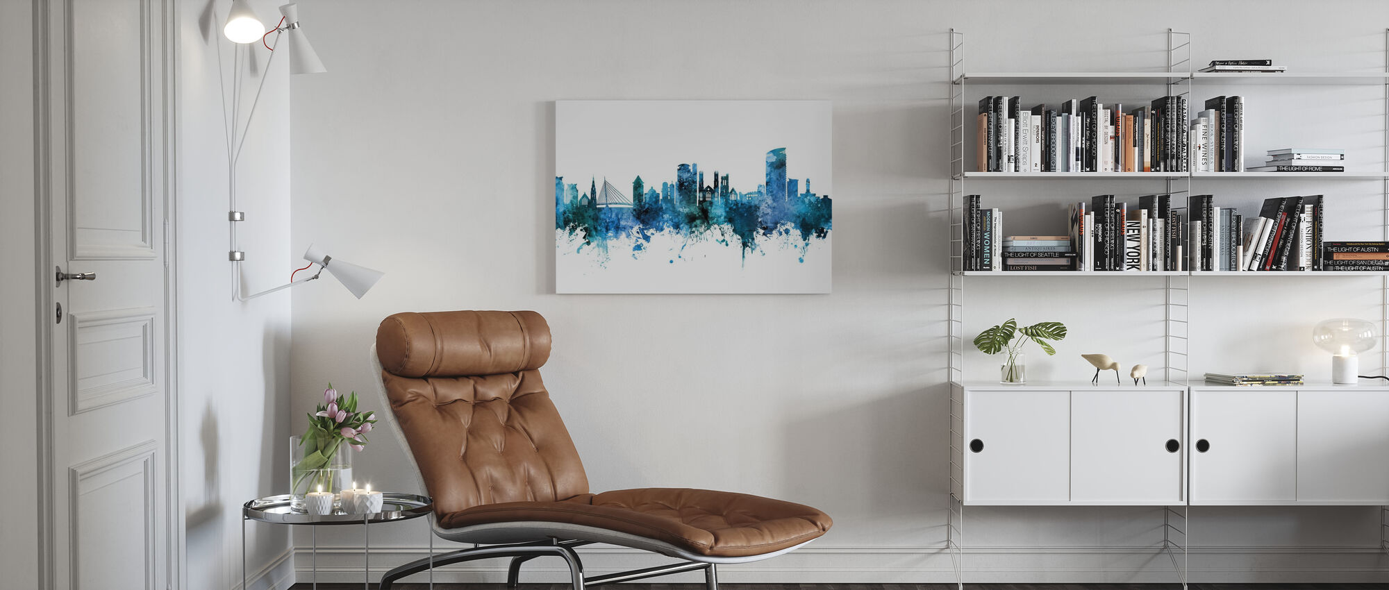 Swansea Wales Skyline - Canvas print - Living Room