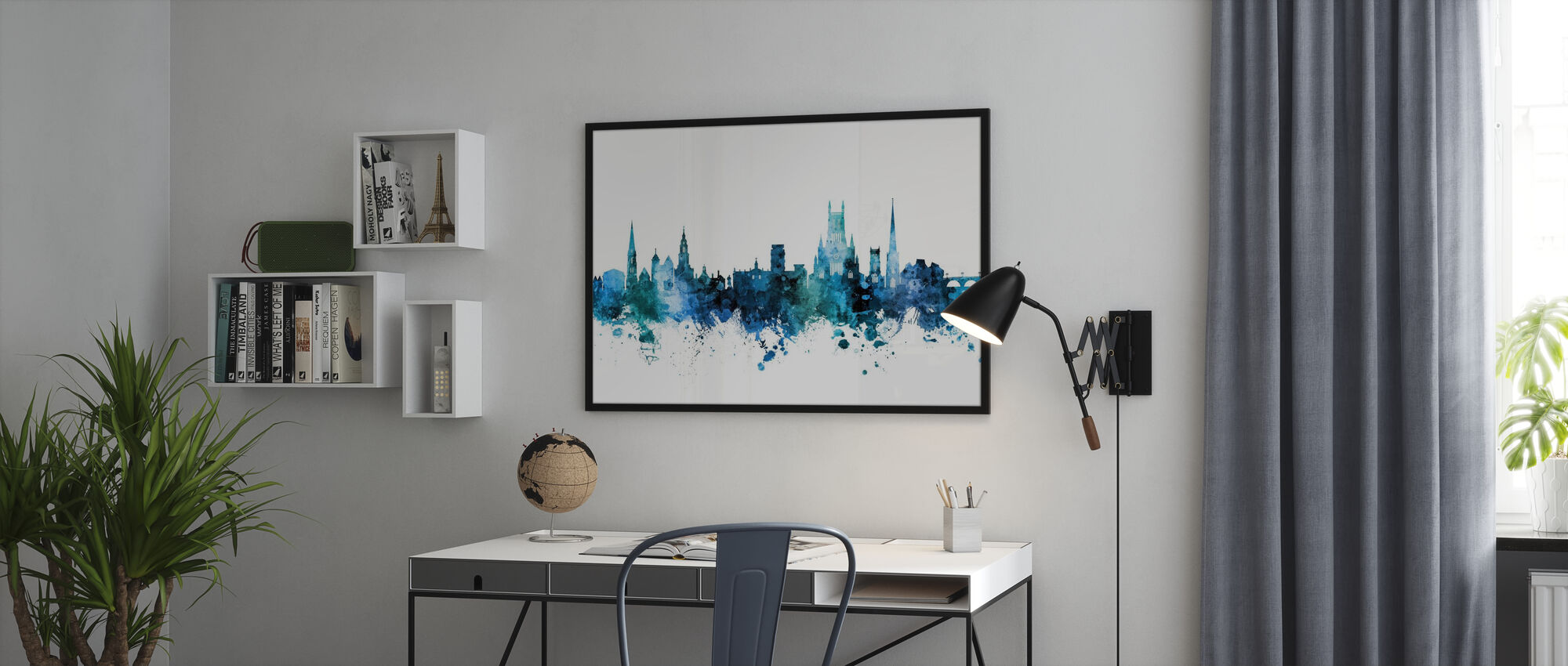 Worcester England Skyline - Plakat - Kontor