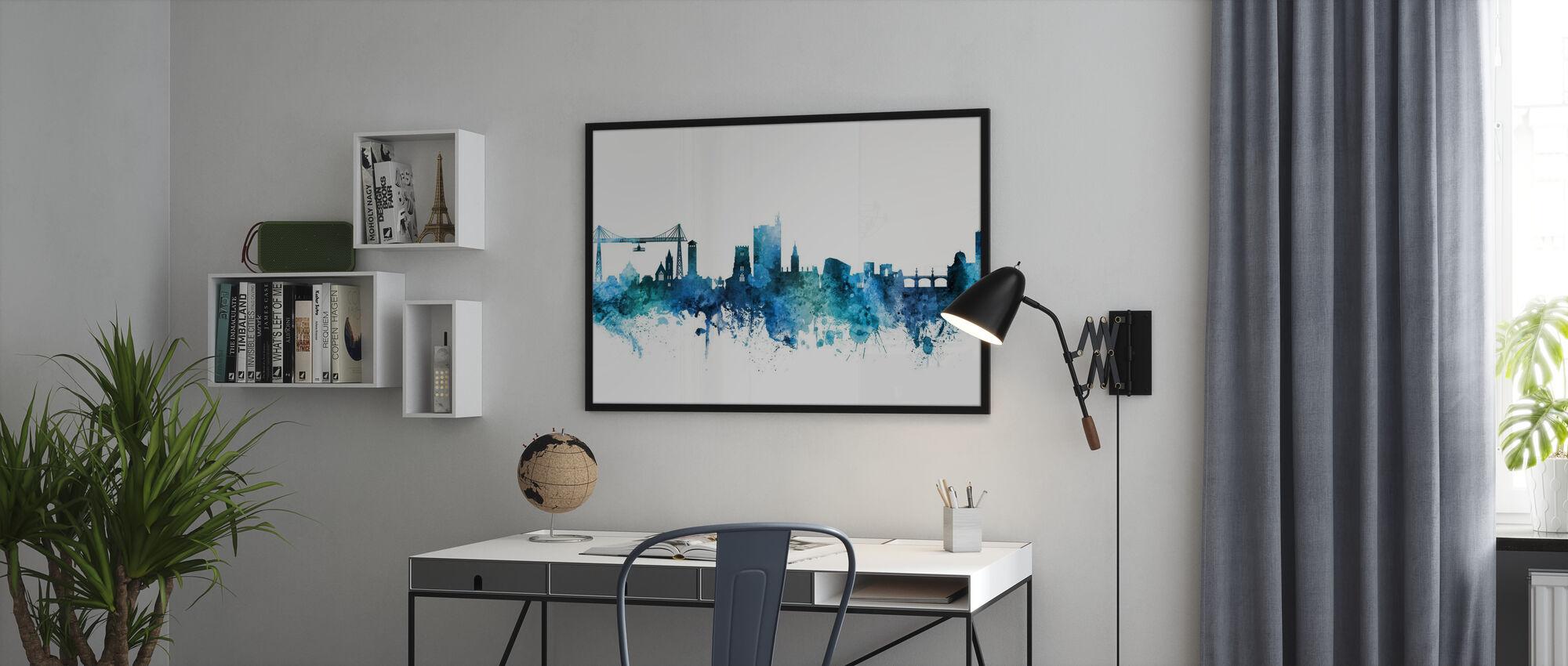 Newport Wales Skyline - Poster - Office