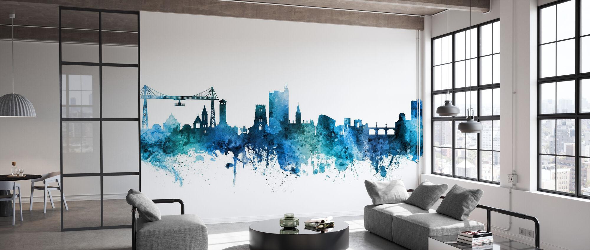 Newport Wales Skyline - Wallpaper - Office