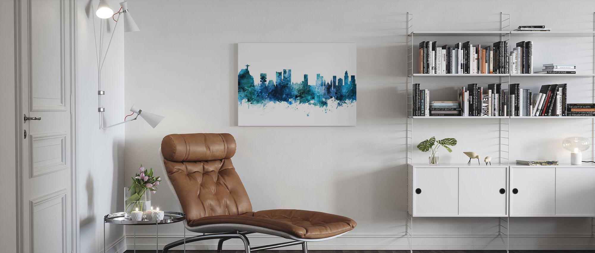 Rio de Janeiro Skyline Brazil - Canvas print - Living Room