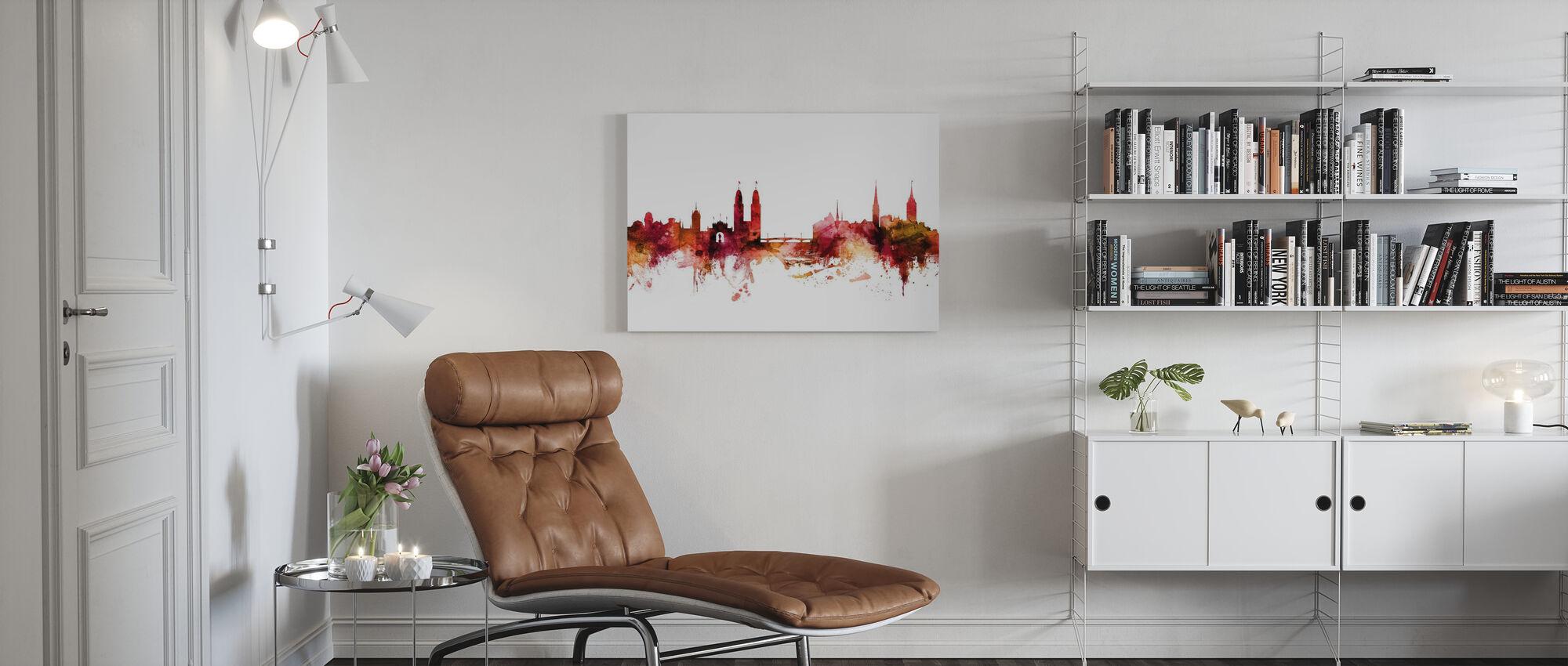 Zurich Switzerland Skyline - Canvas print - Living Room