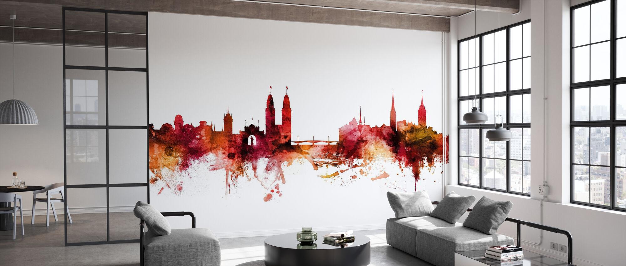 Zurich Suisse Skyline - Papier peint - Bureau
