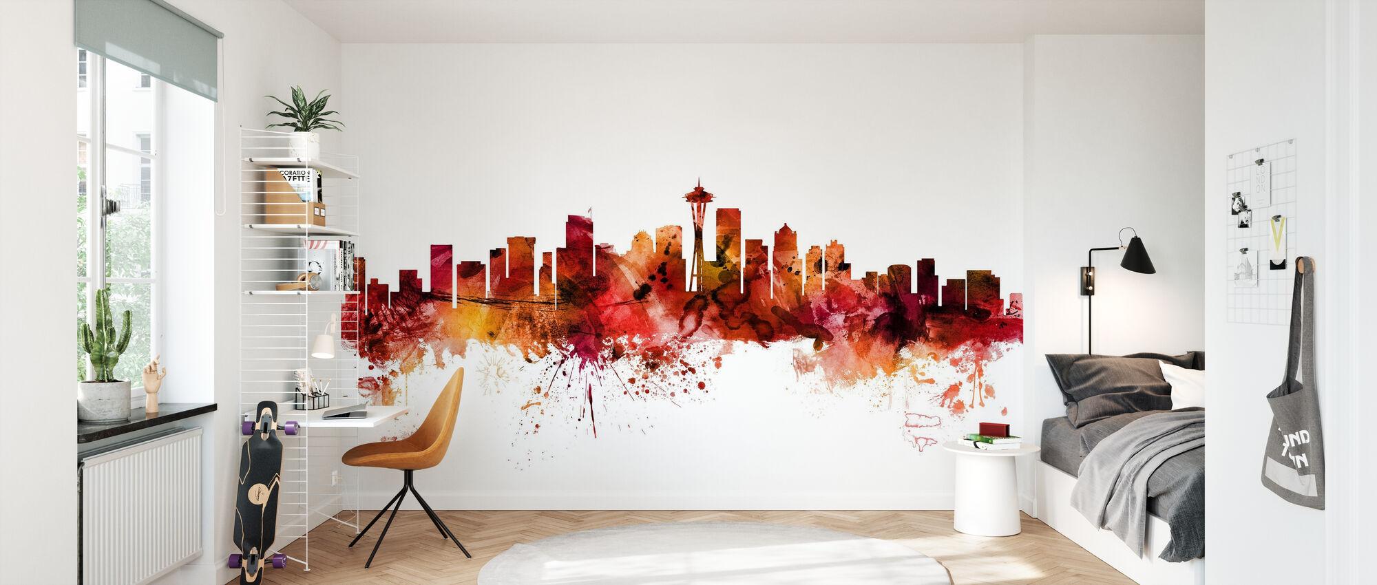 Seattle Washington Skyline - Behang - Kinderkamer