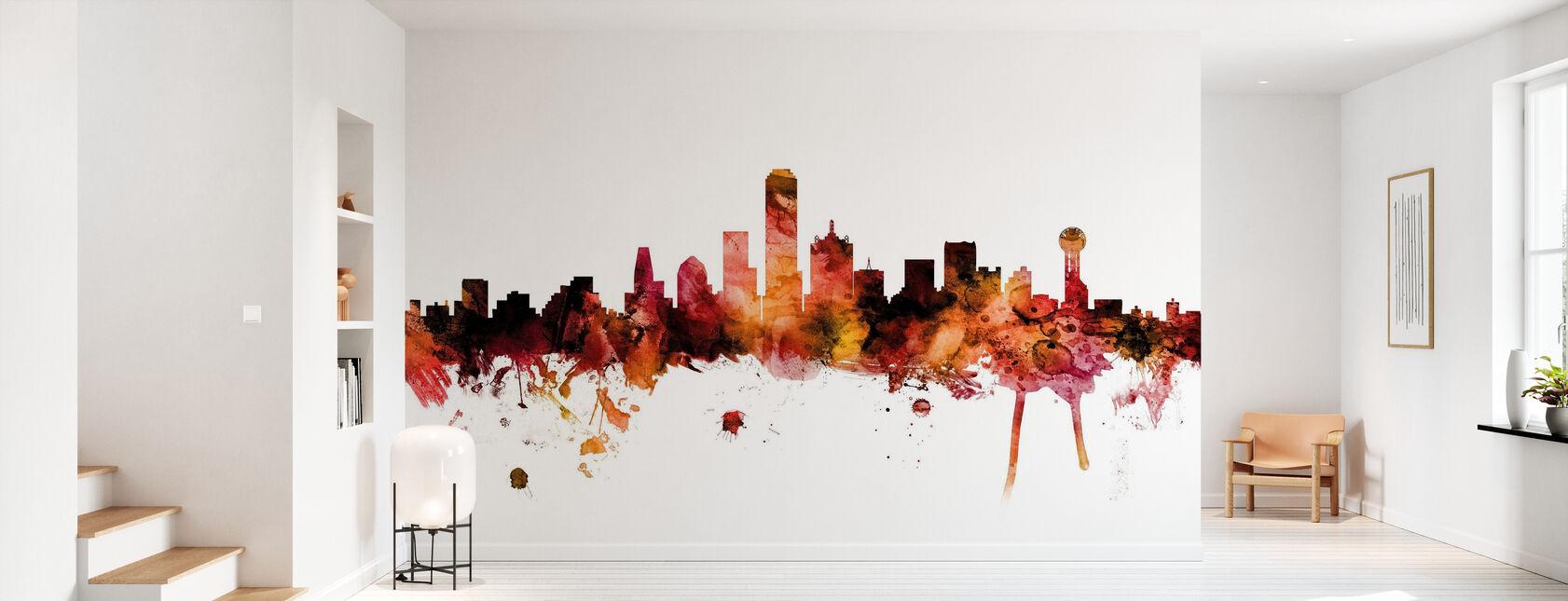 Dallas Texas Skyline - Wallpaper - Hallway