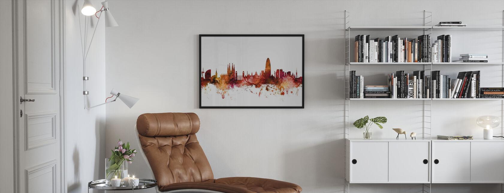 Barcelona Spain Skyline - Framed print - Living Room