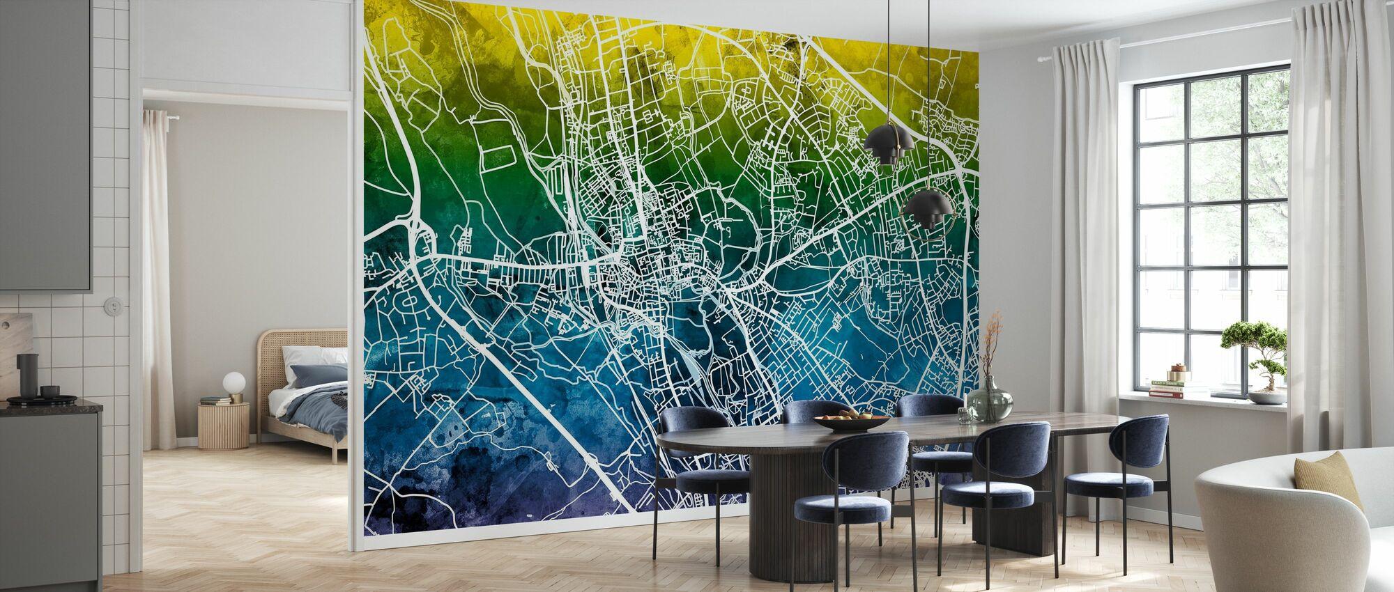 Oxford Street Map - Bluegreen - Wallpaper - Kitchen