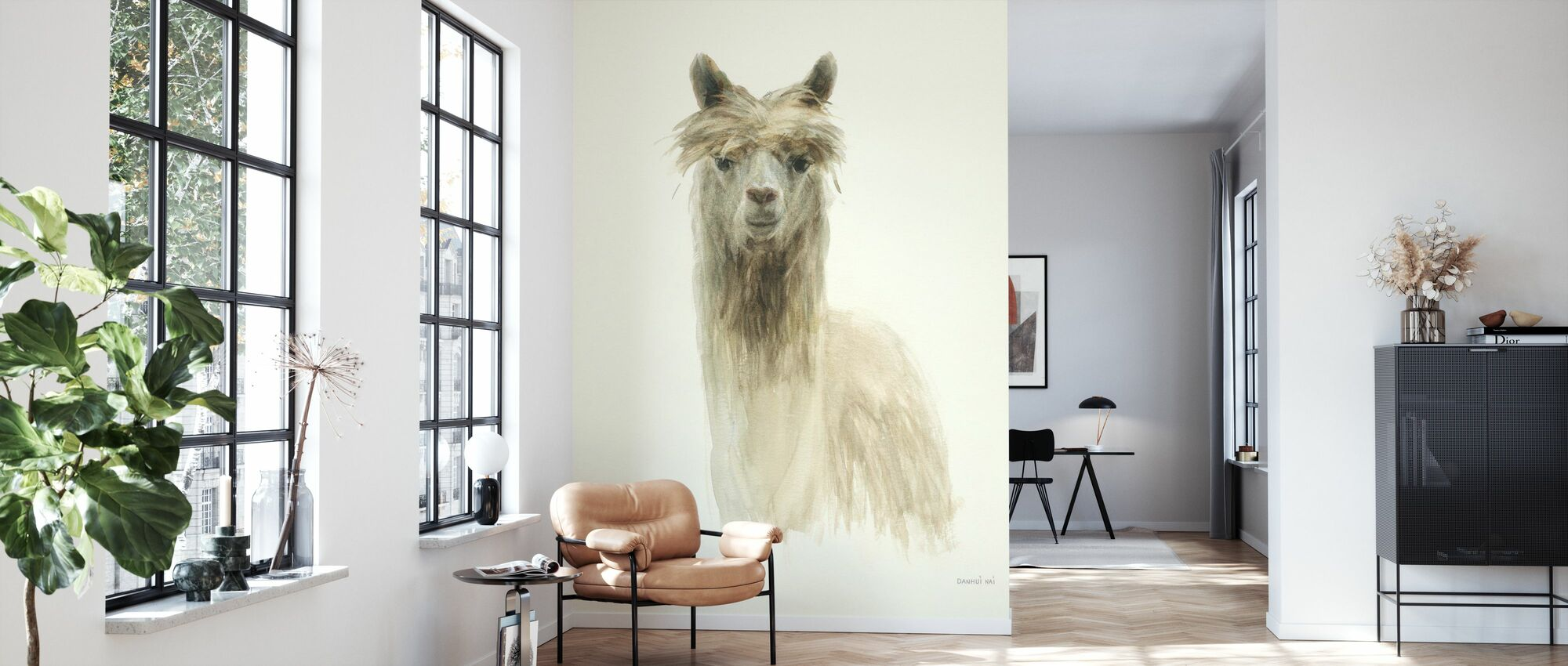 Classic Llamas I - Wallpaper - Living Room