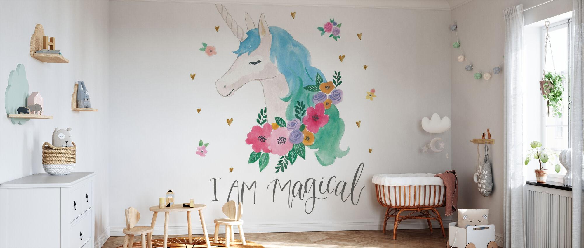 Amis magiques IV - Papier peint - Chambre de bébé
