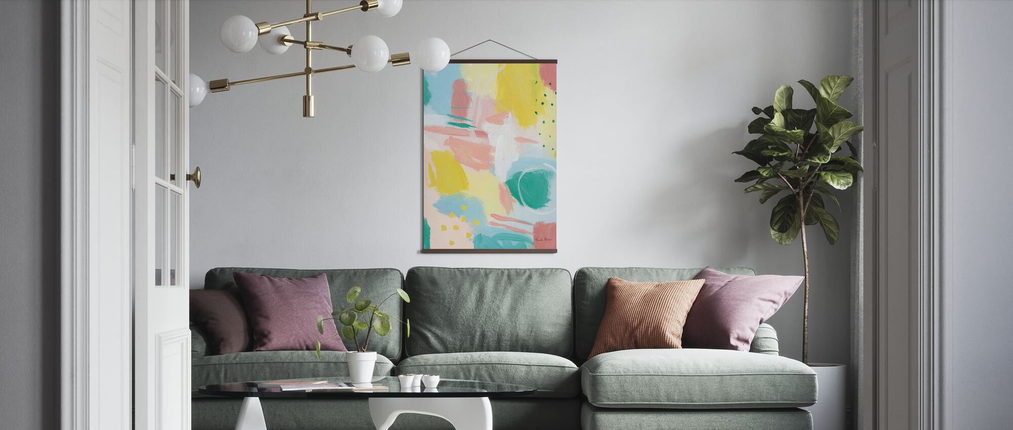 Fresh Face Abstract II - Poster - Living Room
