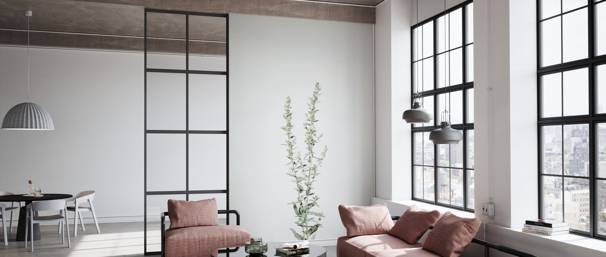 Simple Stems IV - Wallpaper - Office