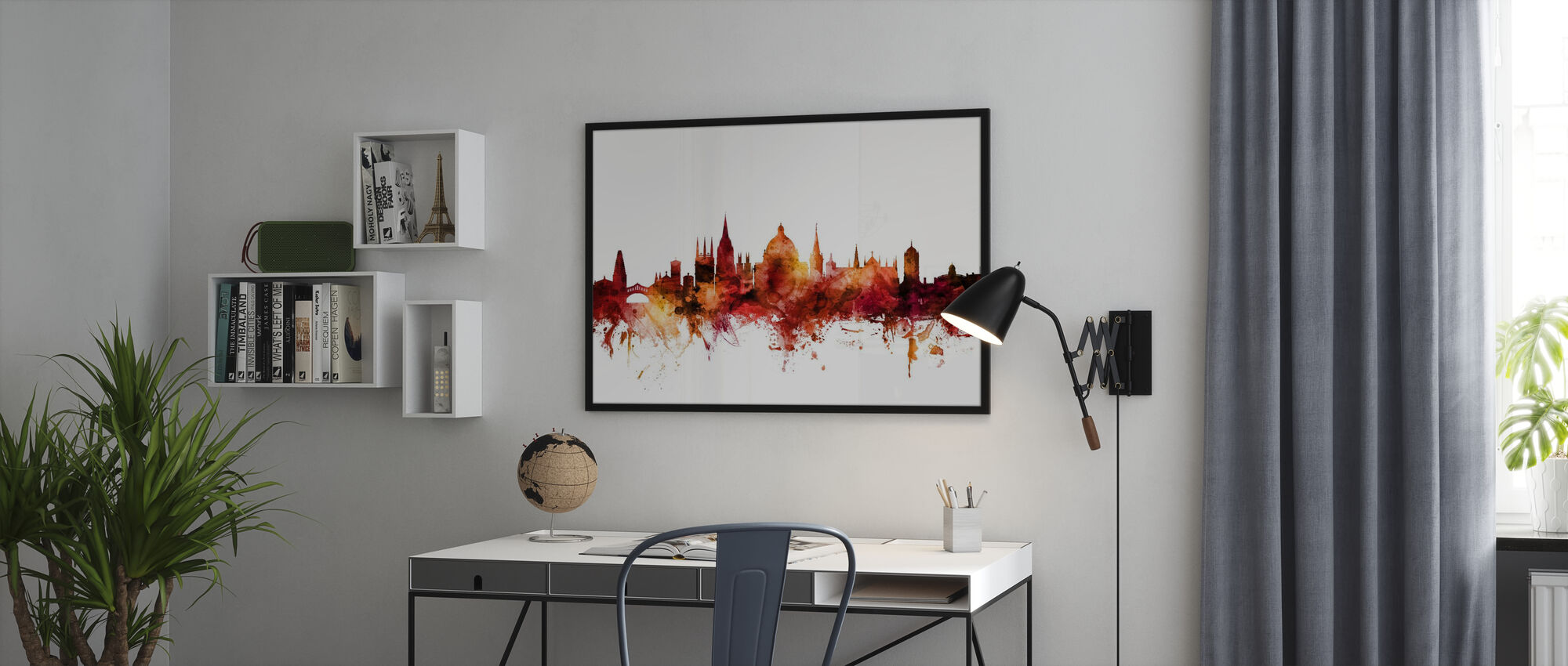 Oxford England Skyline - Poster - Office