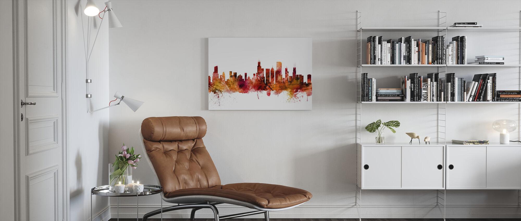Chicago Illinois Skyline - Canvas print - Woonkamer
