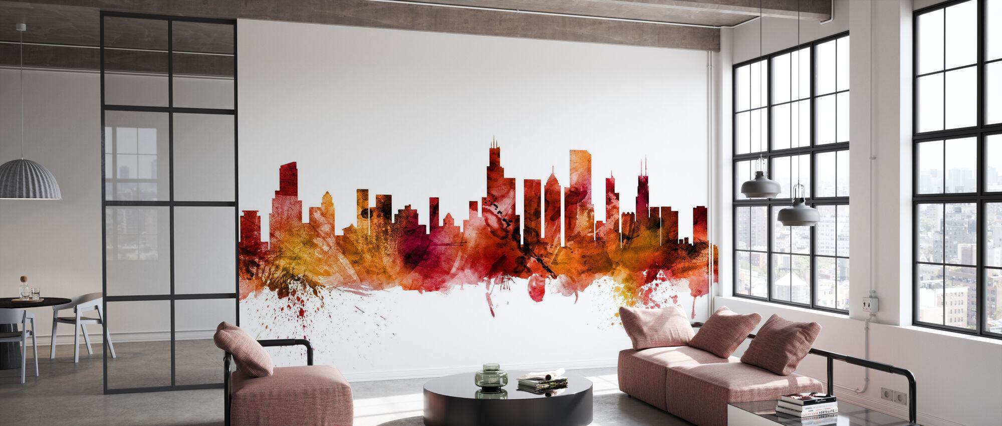 Chicago Illinois Skyline - Papier peint - Bureau