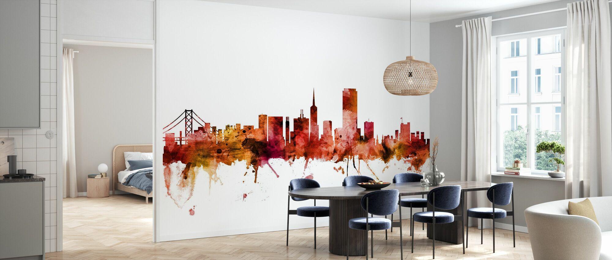 San Francisco California Skyline - Wallpaper - Kitchen