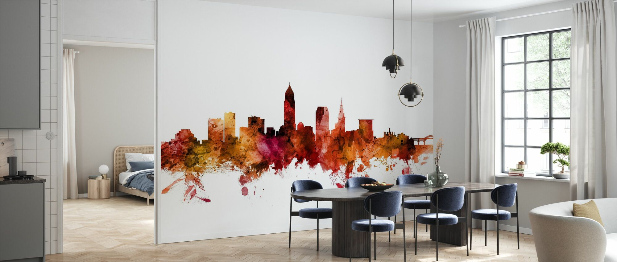Cleveland Ohio Skyline - Wallpaper - Kitchen