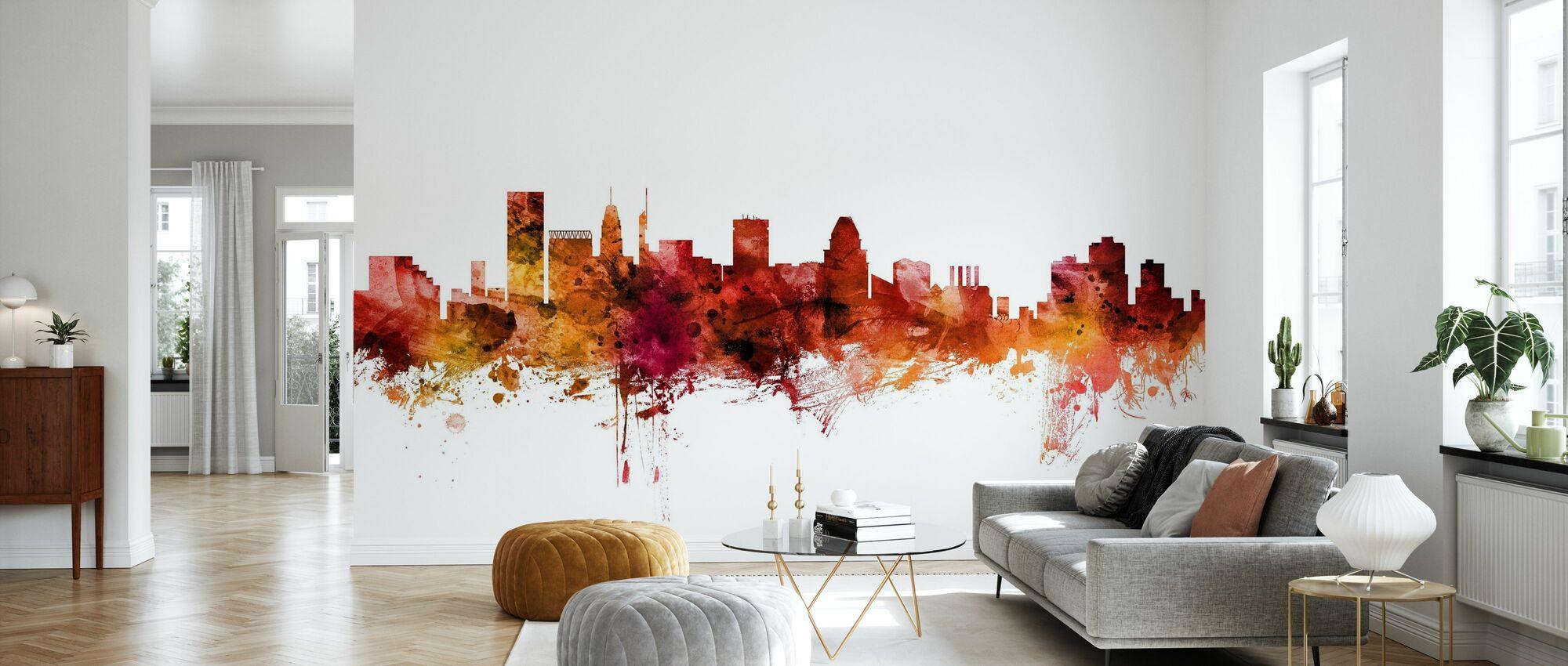 Baltimore Maryland Skyline - Wallpaper - Living Room