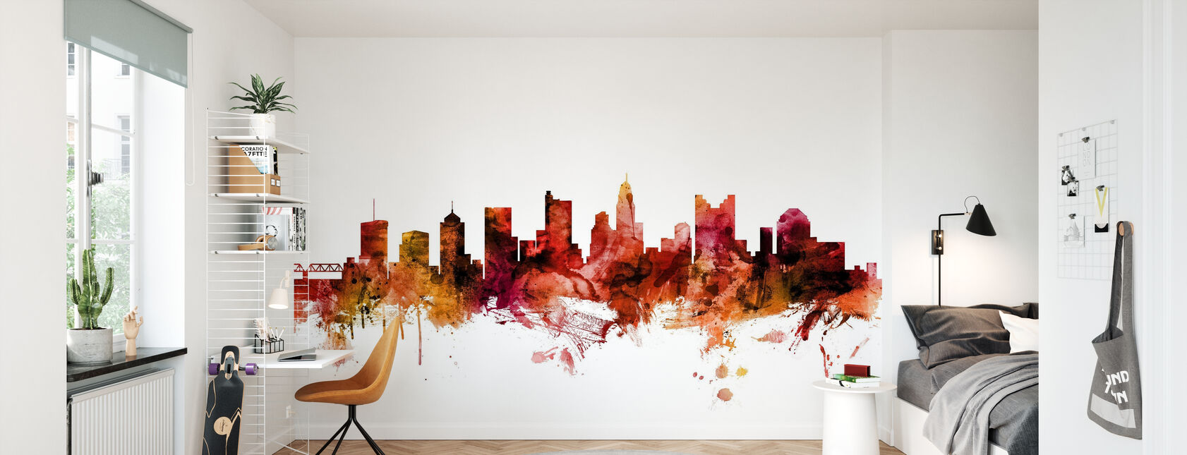 Columbus Ohio Skyline - Wallpaper - Kids Room