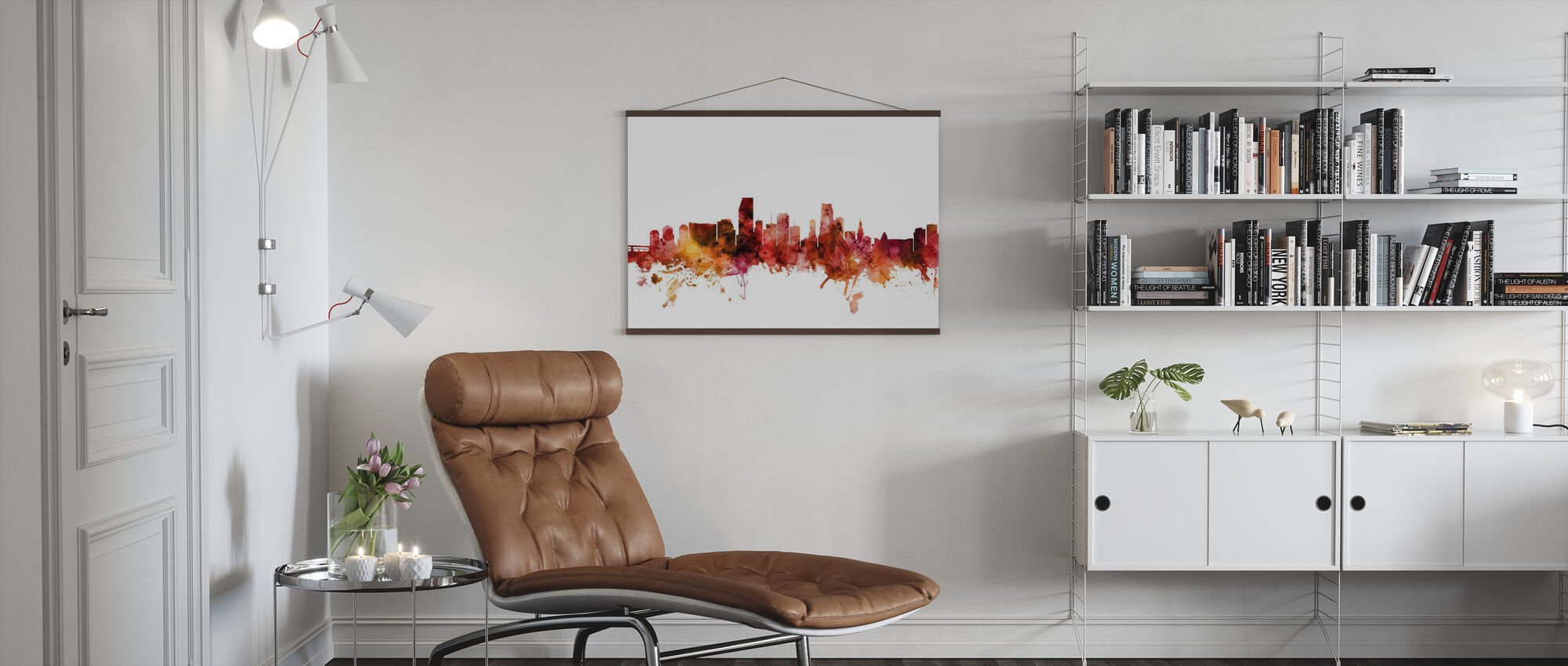 Miami Florida Skyline - Poster - Living Room