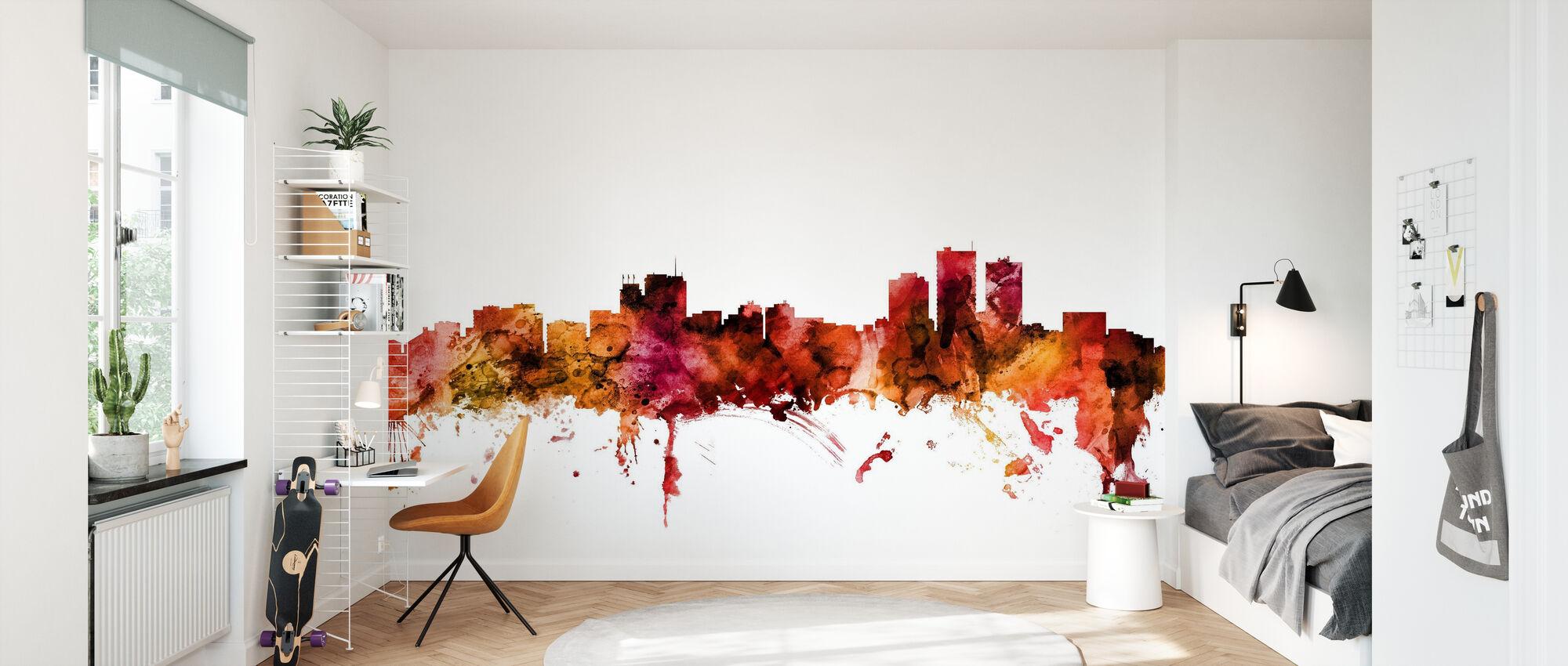 Anchorage Alaska Skyline - Wallpaper - Kids Room