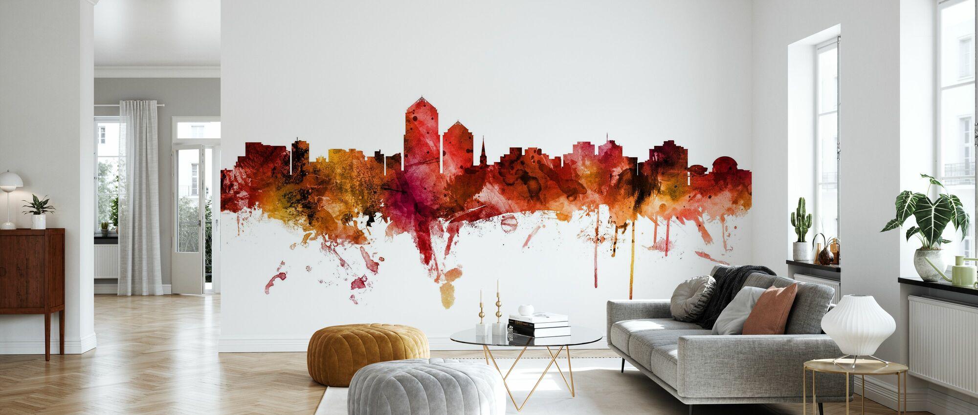 Albuquerque New Mexico Skyline - Wallpaper - Living Room