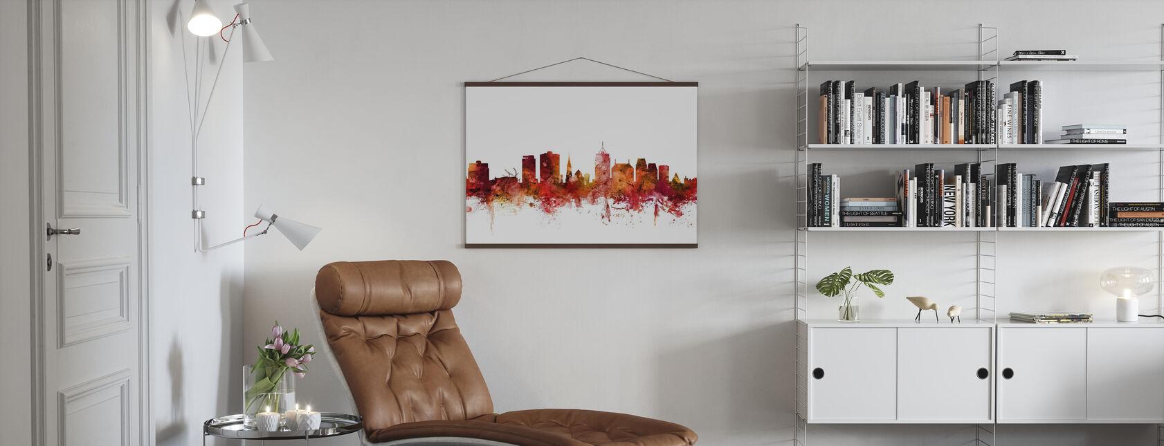 Christchurch New Zealand Skyline - Poster - Living Room