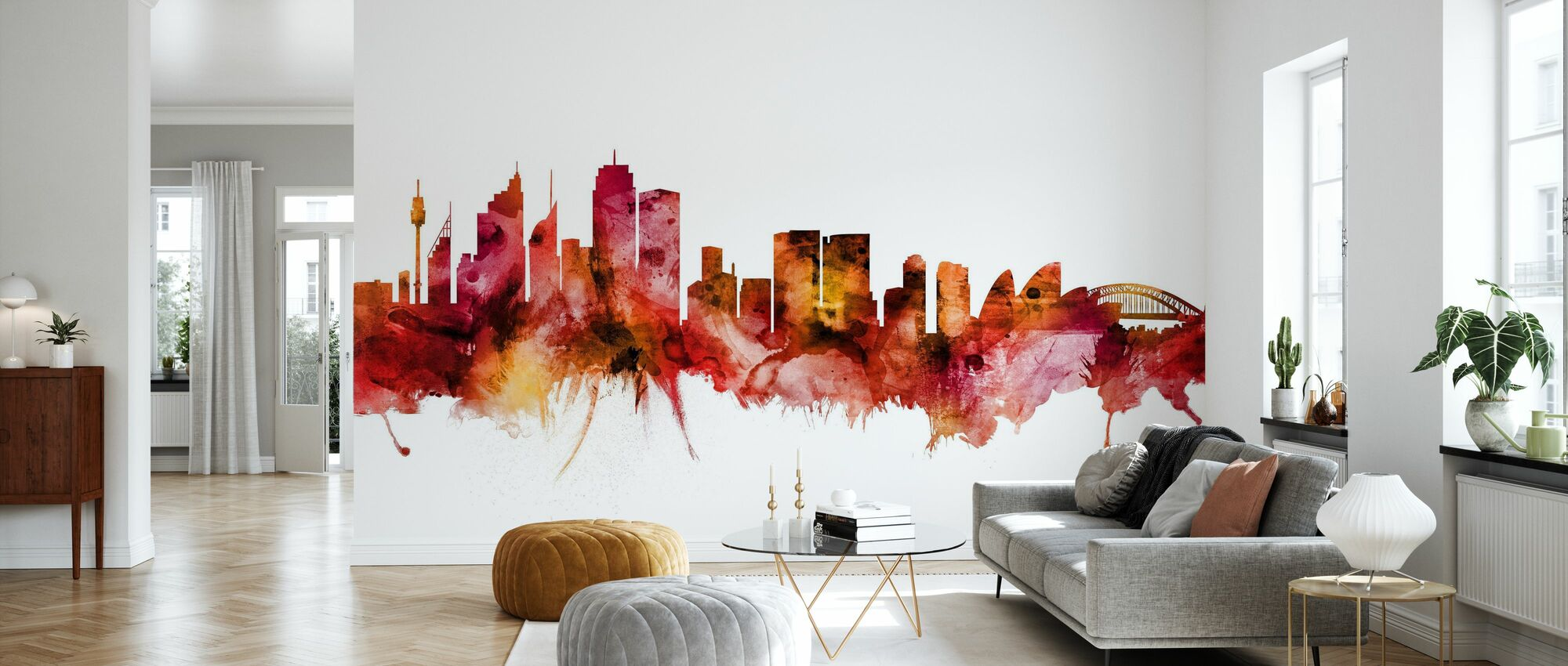 Sydney Australia Skyline - Wallpaper - Living Room