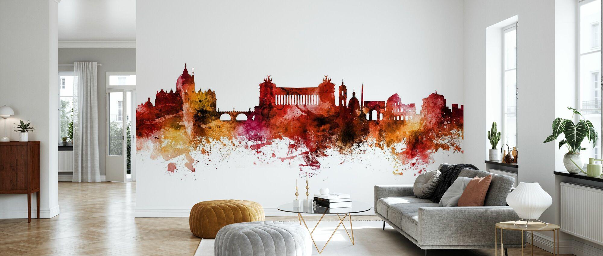 Rome Italy Skyline - Wallpaper - Living Room