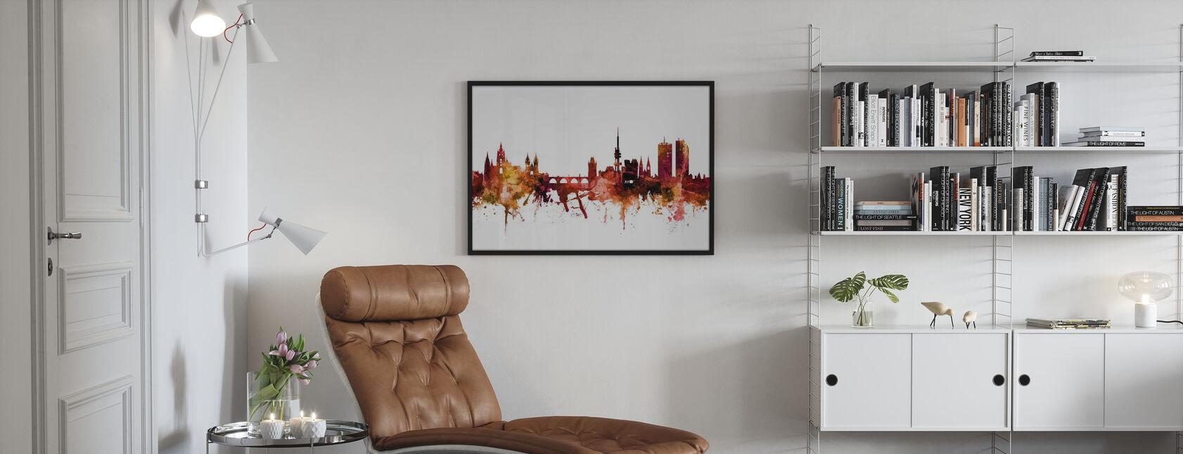Prague (Praha) Czech Republic Skyline - Framed print - Living Room