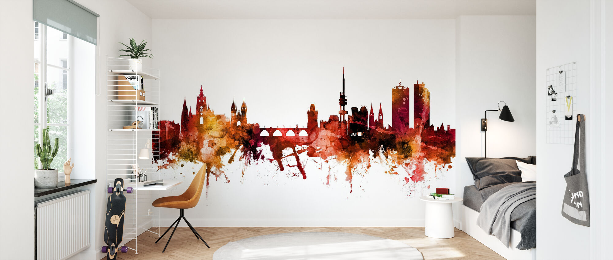 Prague (Praha) Czech Republic Skyline - Wallpaper - Kids Room