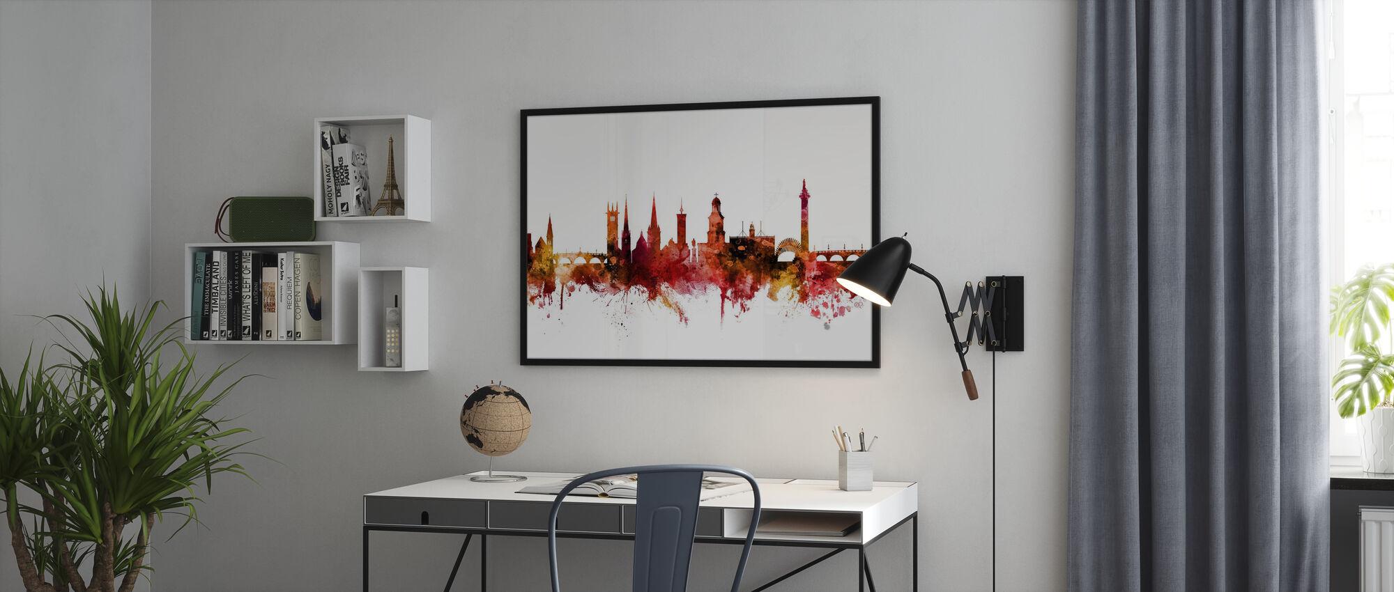 Shrewsbury Skyline England - Poster - Büro
