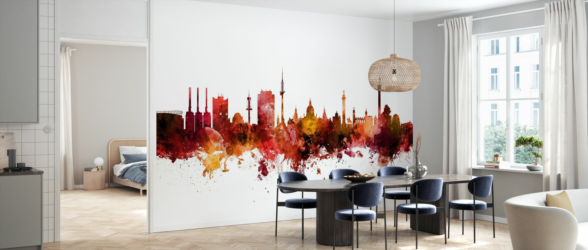 Hannover Germany Skyline - Wallpaper - Kitchen