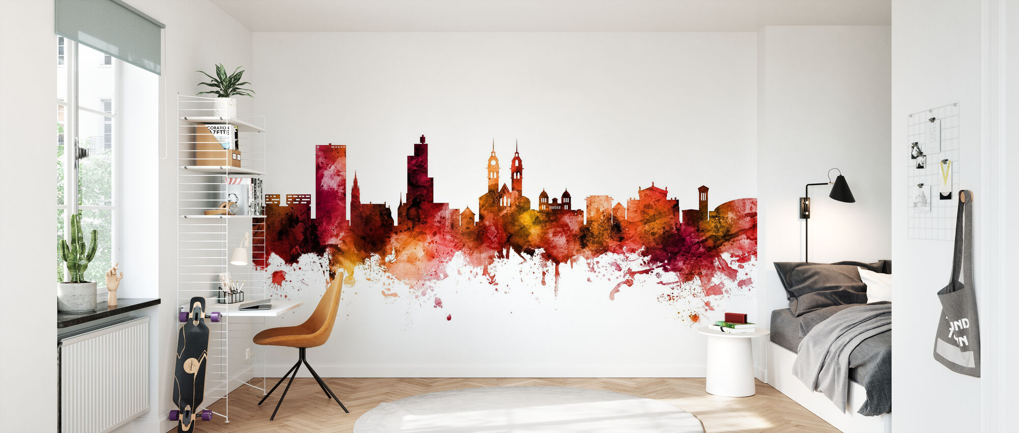 Winterthur Switzerland Skyline - Wallpaper - Kids Room