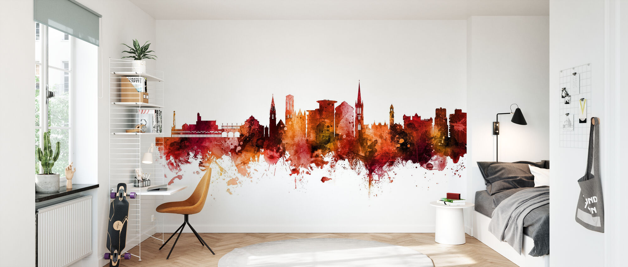 Bournemouth England Skyline - Wallpaper - Kids Room
