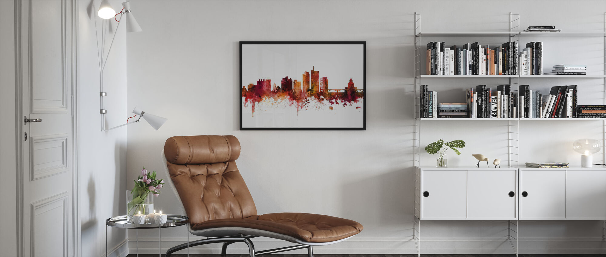 Cedar Rapids Iowa Skyline - Ingelijste print - Woonkamer