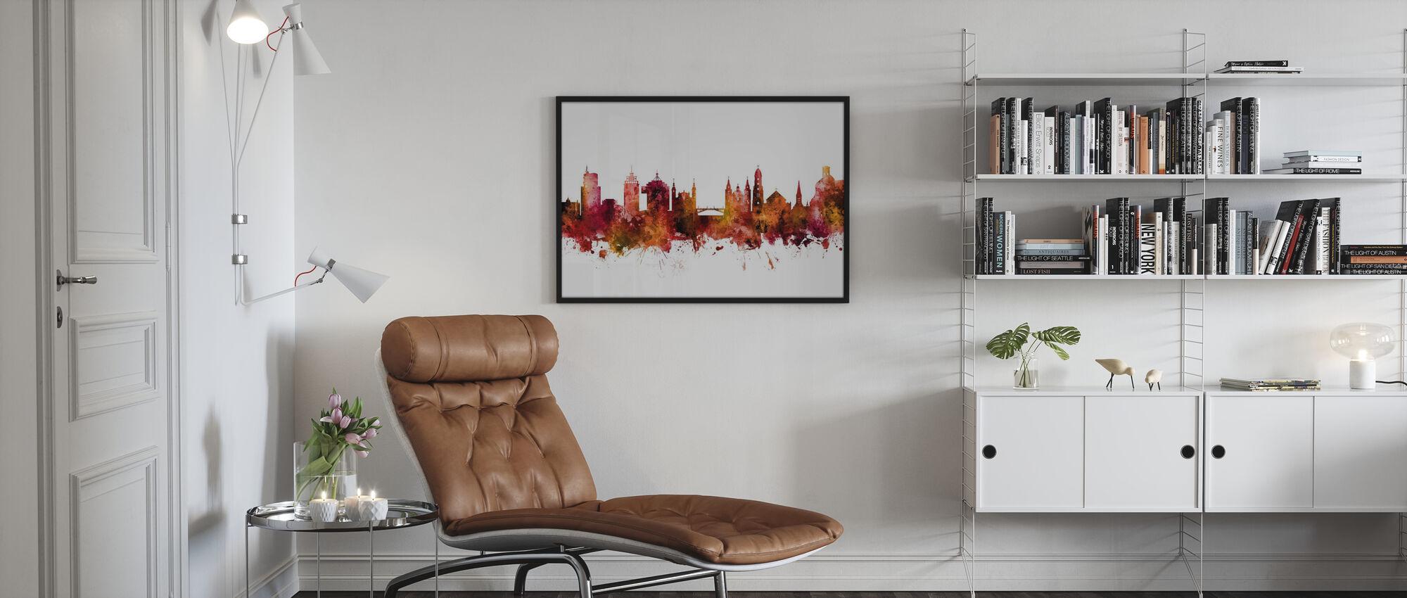 Ljubljana Solvenia Skyline - Poster - Living Room
