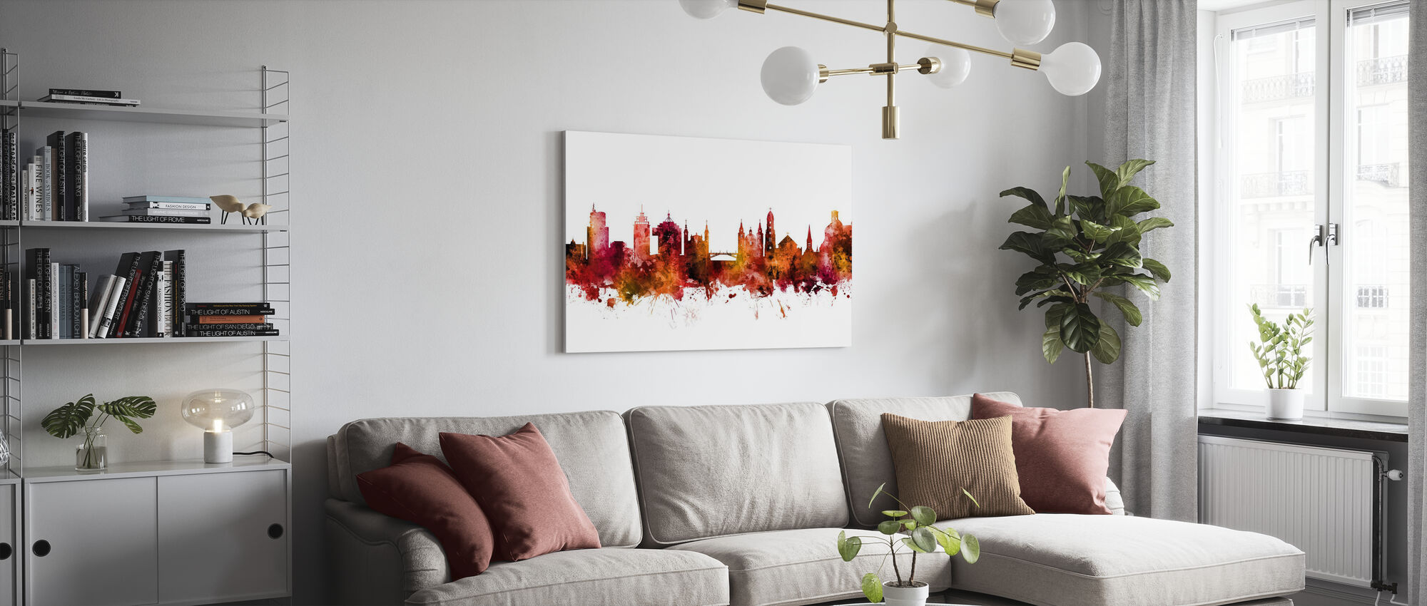 Ljubljana Solvenia Skyline - Canvas print - Living Room